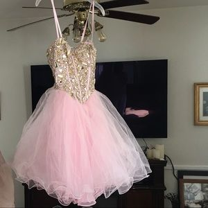 Dave & Johnny - Short Pink Princess Dress Gown